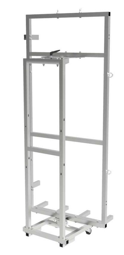 Herramienta para transportar puertas con sube escaleras